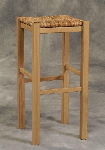 2 PC Backless Natural Bar Stool Set