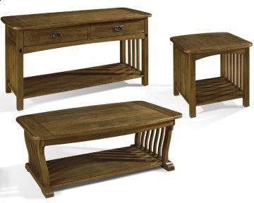 3 PC Craftsman Occasional Table Set