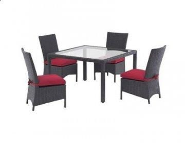 5 PC Cosmo Outdoor Square Dining Room Furniture