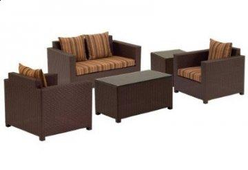 5 PC Metro Outdoor Living Room Furniture Set