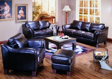 Lancaster Leather Sofa Set