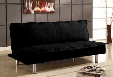Montreal Black Casual Convertible Sofa