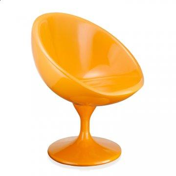 Scoop Orange Swivel Accent Chair