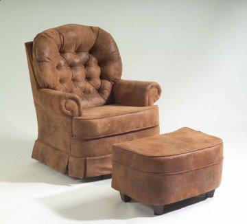 Mustang Swivel Rocker and Ottoman Set