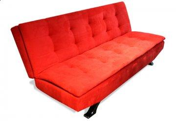 Helsinki Red Convertible Sofa
