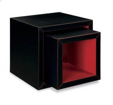 Miami Faux Leather Cube Table Set