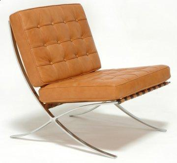 Exposition Golden Tan Leather Chair