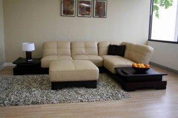 Alba Leather Sectional Sofa