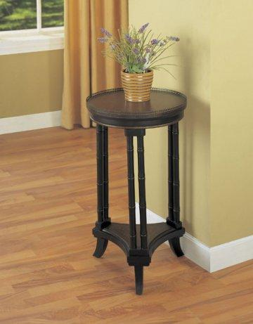 Masterpiece Antique Black and Brown Accent Table