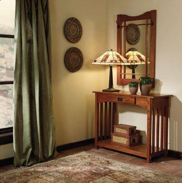 Mission Oak Console Table and Mirror Set