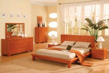 Seville Cherry Platform Bedroom Set