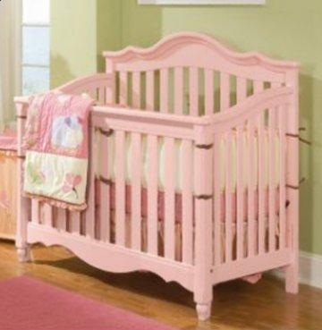 Spring Garden Pink Wood Baby Crib