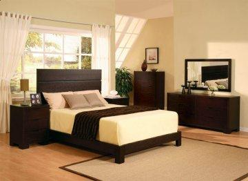 Thames Cappuccino Platform Bedroom Set