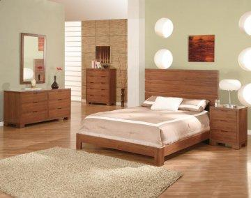 Thames Walnut Platform Bedroom Set