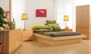 Lifestyle Solutions Maple Zurich Platform Bedroom Furniture Price Reduced. Only 40 Sets Left!
