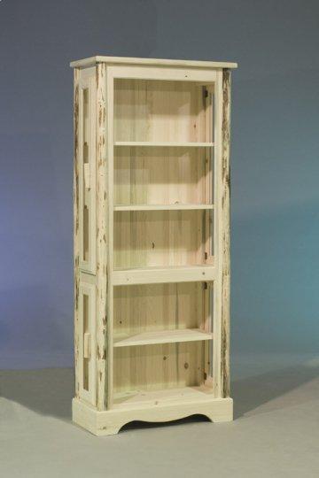 Carson Rustic Log Curio Cabinet