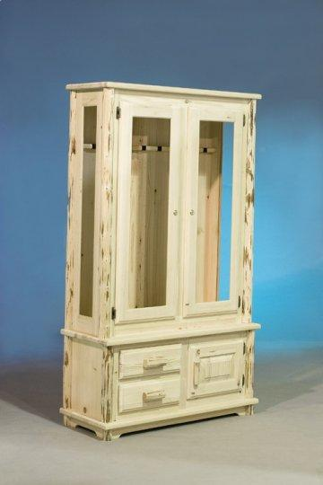 Carson Rustic Log Gun Cabinet