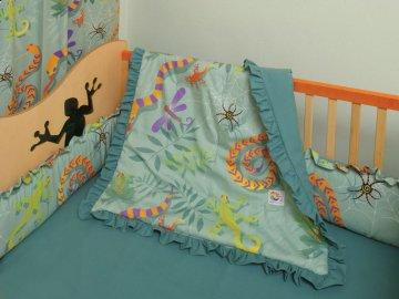 4 PC Little Lizard Crib Bedding Set
