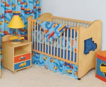 Boys Like Trucks Baby Crib