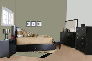 Sol Platform Storage Bedroom Set