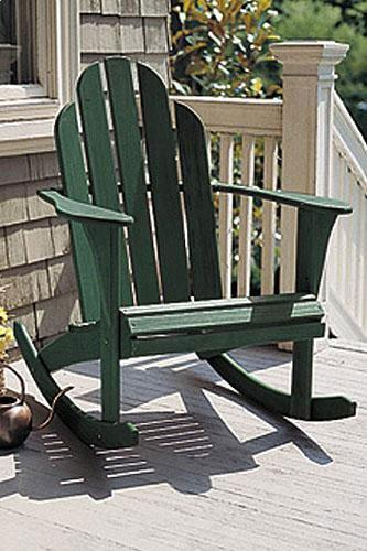 Woodstock Green Adirondack Rocking Chair