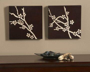 Espresso Cherry Blossoms Wood Carvings