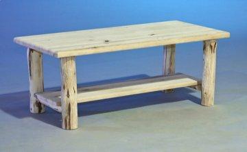 Carson Rustic Log Coffee Table