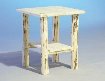 Carson Rustic Log End Table