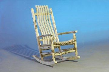 Carson Rustic Log Rocking Chair