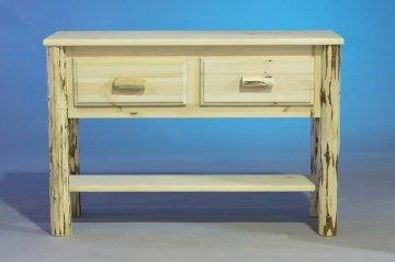 Carson Rustic Log Sofa Table