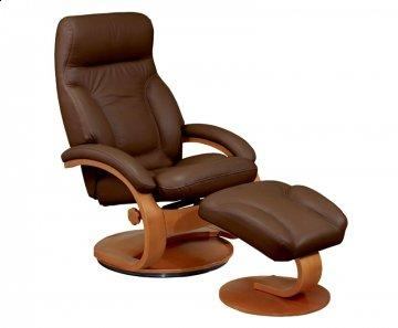 Chocolate 57 Series Leather Recliner