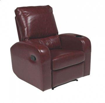 Pisa Burgundy REC-525 Series Leather Recliner