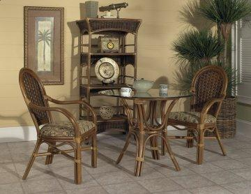 3 PC Pelican Harbor Cafe Round Glass Dining Furniture Set