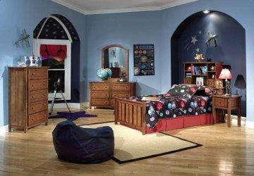 4 PC Brandon Twin Bookcase Bedroom Furniture Set