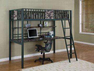 Cameron Twin Study Loft Bunk Bed