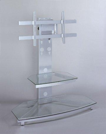 Glossy Silver Flat Panel TV Stand
