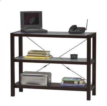 Espresso Glass Top Bookshelf