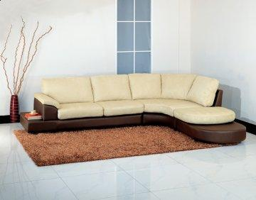 Cabo Beige Sectional Sofa with Ottoman