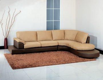 Cabo Mocha Sectional Sofa with Ottoman
