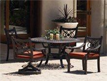 5 PC Del Mar Hacienda Patio Dining Room Furniture Set