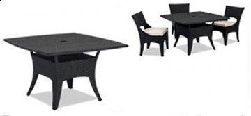 5 PC Laguna Outdoor Square Dining Room Furniture Set