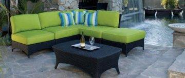 Laguna Outdoor Sectional Sofa with Sunbrella Cushions