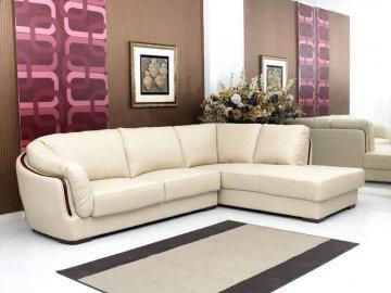 Azara Leather Sectional Sofa