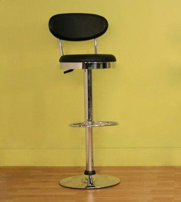 2 PC Black Achilla Swivel Bar Stool Set
