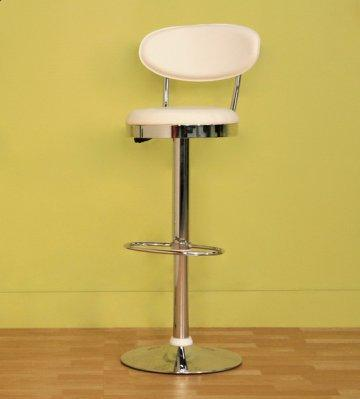 2 PC White Achilla Swivel Bar Stool Set