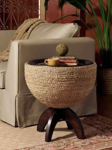Carmel Round Drum End Table