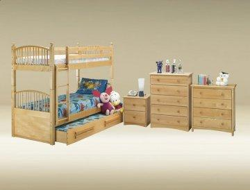Birch Twin/Twin Spindle Bunk Bed