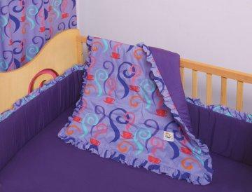 4 PC Girl Teaset Crib Bedding Set