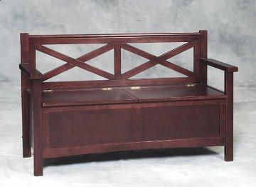 Double X Back Storage Bench