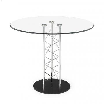 Chardonnay Round Glass Dining Table by Zuo Modern